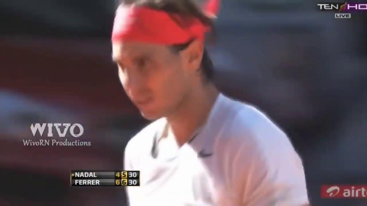 Rafael Nadal 20 Shots Inhuman Reflexes