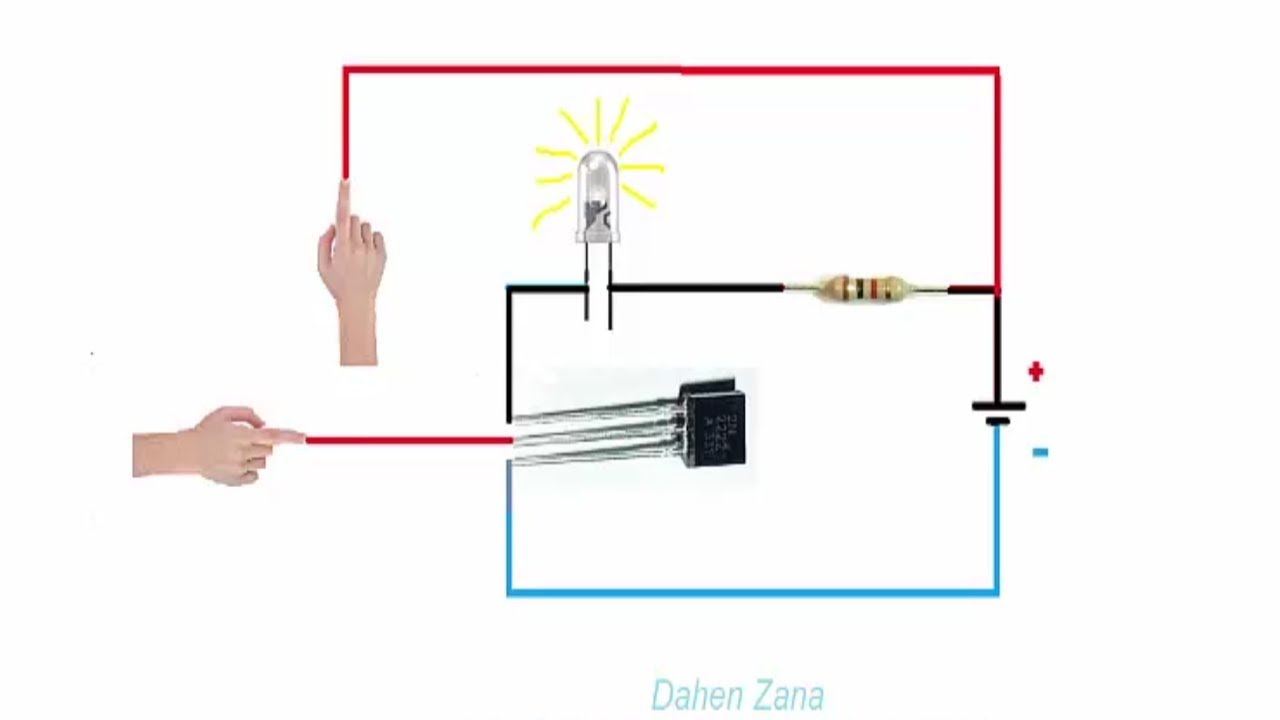 How To Use Your Transistor As A Switch Touch 2n2222a Act Working And Switching Circuit Video 7