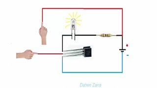 How to use your transistor as a switch - touch switch - 2N2222a (video 7)