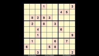 New York Times - Hard Sudoku October 19, 2018