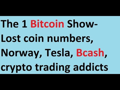 The 1 Bitcoin Show- Lost coin numbers, Norway, Tesla, Bcash, crypto trading addicts