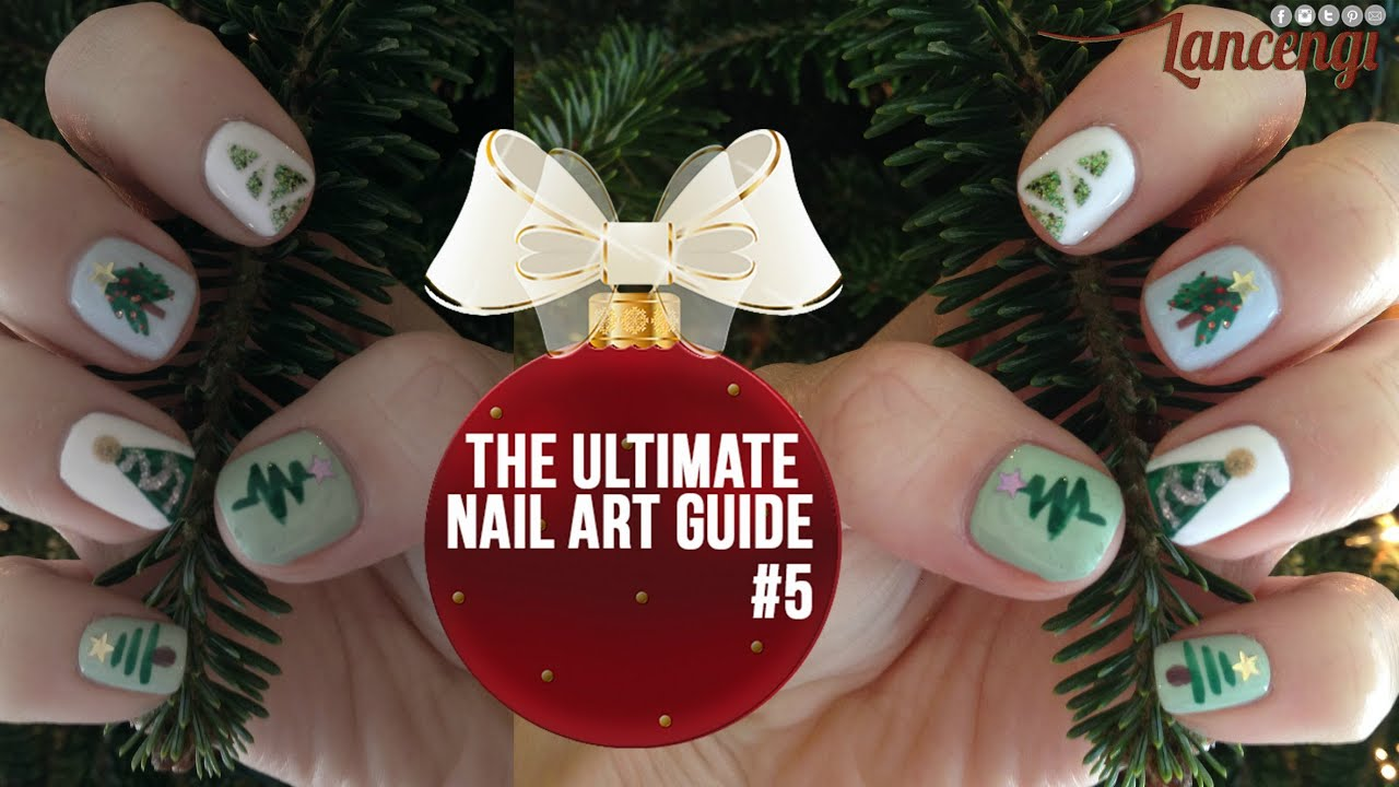 Christmas Tree Nail Art - Easy & Cute Nail Art for Beginners #18 ...