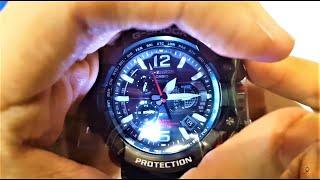 Casio G-Shock Gravity Master Hybrid GPS Black/Blue GPW-1000-1A unboxing