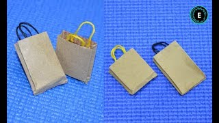 DIY #Miniature #Paper #Bag | How To Make A Paper Bag Easy Way | Mini Shopping Bag Out Of Paper