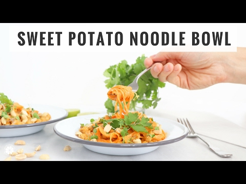 Sweet Potato Noodles With Spicy Peanut Butter Sauce | Quick, Healthy, Gluten-Free Recipe