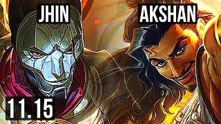 JHIN \u0026 Leona vs AKSHAN \u0026 Pyke (ADC) | 7/1/14, 1.5M mastery, Dominating | KR Diamond | v11.15