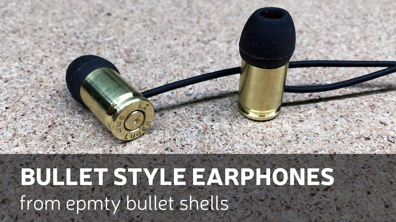 390da34b1e8 DIY: Bullet Style Earphones From Empty Bullet Shells - YouTube