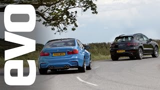 Porsche Macan Turbo v BMW M3 | evo DRAG BATTLE