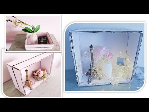 DIY MULTI-PURPOSE FAUX WOOD CRATE/SHOE BOX CRAFT/ BEST OUT OF WASTE
