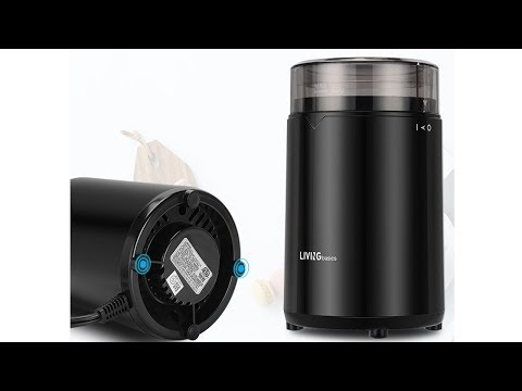 Electric Coffee Grinder, Stainless Steel Blades - LIVINGbasics™