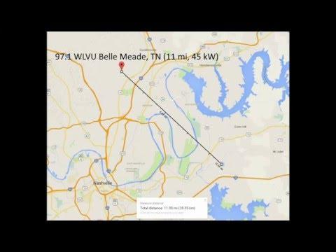 Nashville FM Radio Bandscan - Jan 2015
