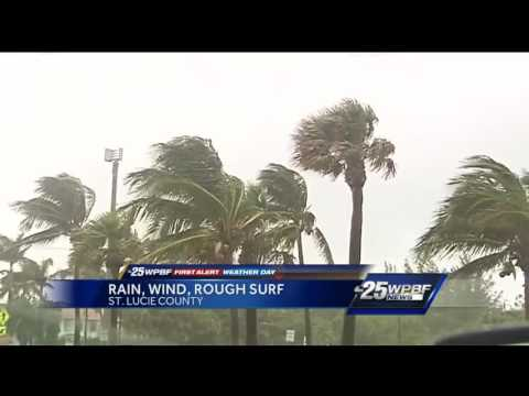 Rough weather rolls through South Florida