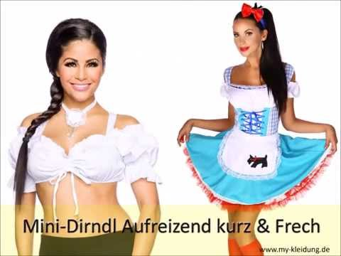 freches sexy mini dirndl f r oktoberfest online g nstig kaufen youtube. Black Bedroom Furniture Sets. Home Design Ideas
