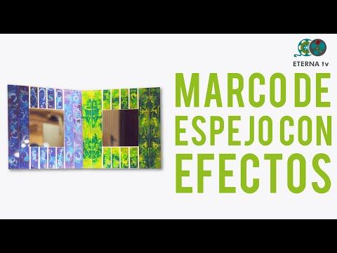 Marco de espejo con efectos silvana mendoza en manos a for Espejo 70 mendoza