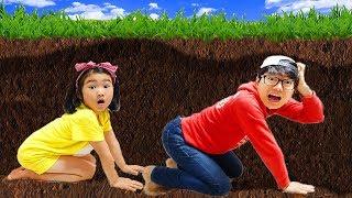 공룡이 살아 났어요! 쥬라기 공룡박물관 테마파크에서 보람이랑 신나게 놀아요! Playground Dino Park for Kids