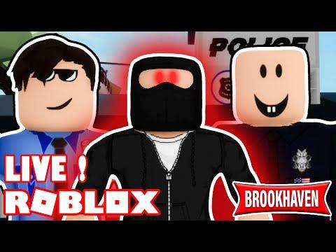 Live Roblox - Criminel Le Plus Mysterieux De BrookHaven ! (Roblox Brookhaven RP)