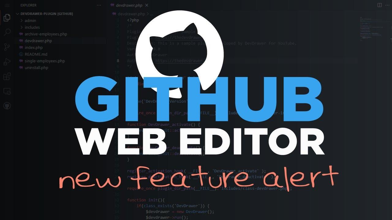 Introducing GitHub's FREE Web-based Editor - #72