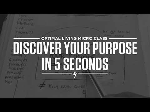 How to Discover Your Purpose in Less than 5 Seconds. :)