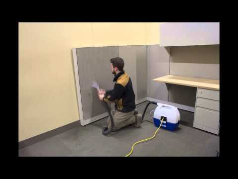 Cubicle Panel Cleaning