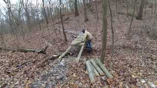 Rustic Log Bridge Construction