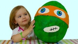 Черепашки Ниндзя  огромное яйцо с сюрпризом открываем TMNT