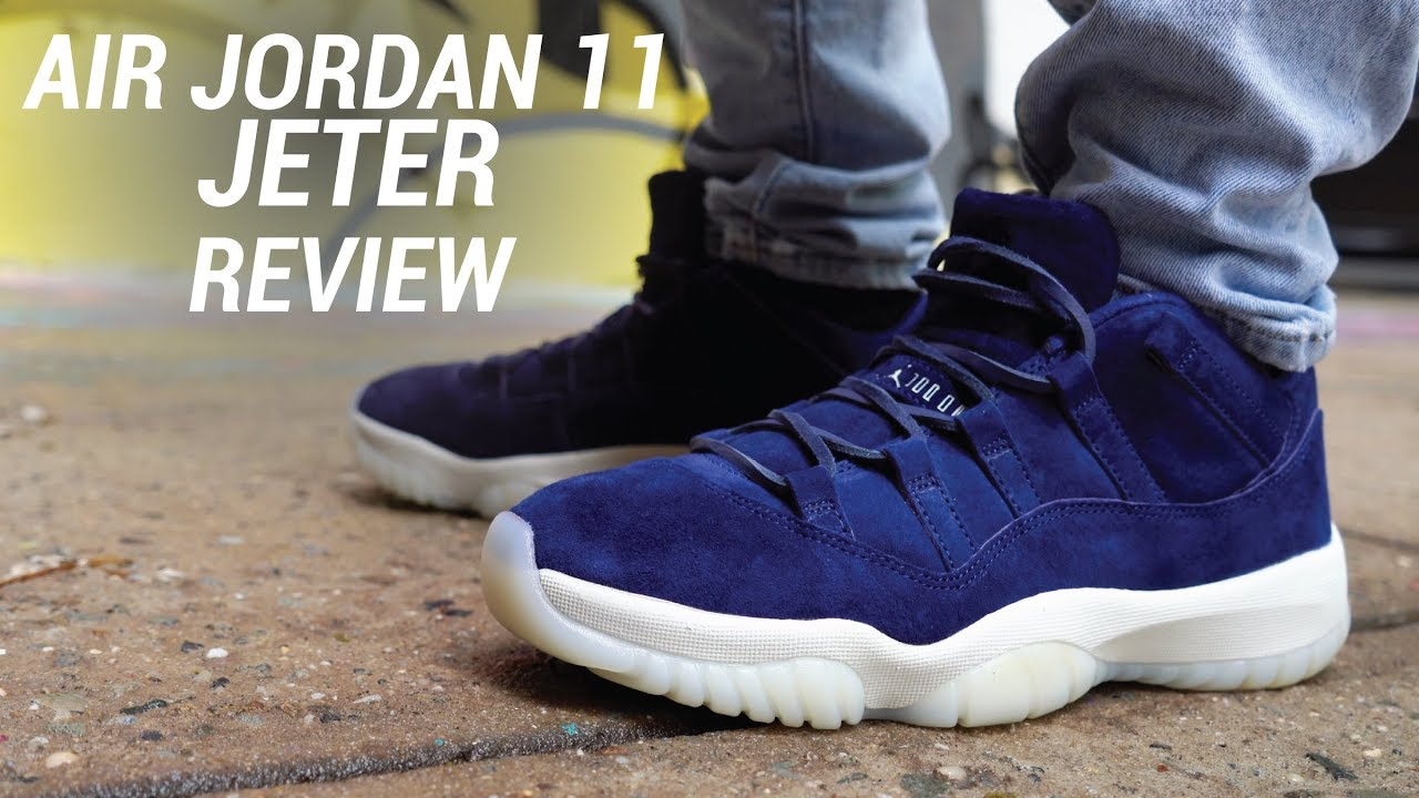 61bc4ae94711 AIR JORDAN 11 LOW DEREK JETER RE2PECT REVIEW - YouTube