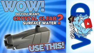 Crystal Clear Surface Water using the Eheim Skim350 • Product Review | Big Al's