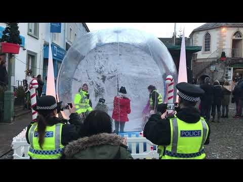 Police having FUN in our snow globe