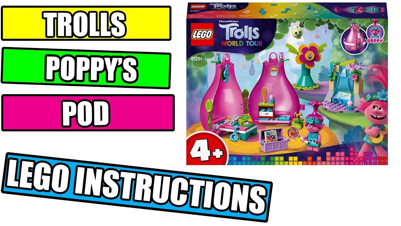 Lego Poppy S Pod Instructions Lego Trolls 2020 41251 Youtube