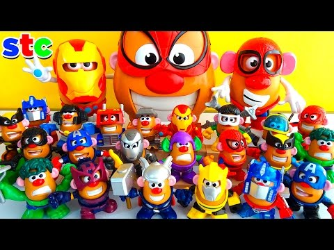 Mr Potato Head Collection Marvel Avengers y Transformers