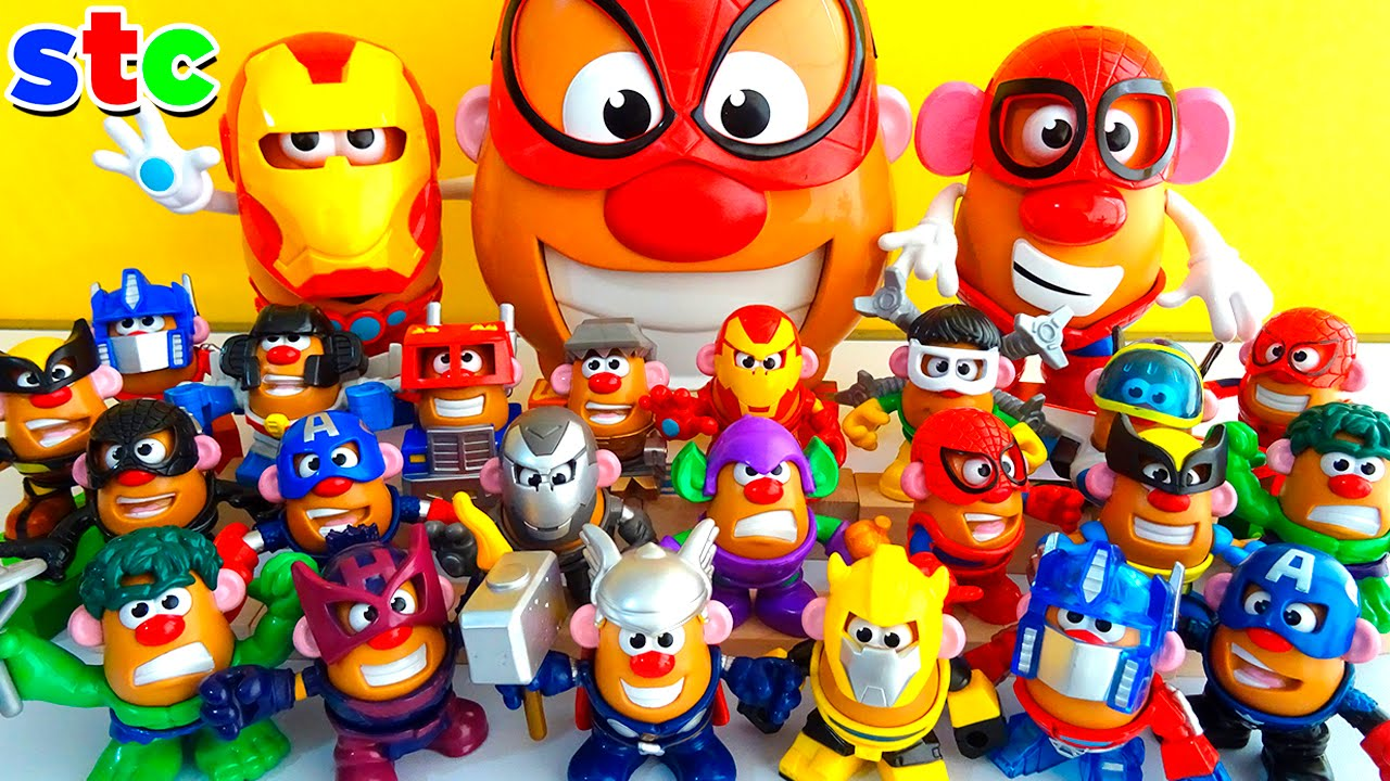 Mr Potato Head Collection Marvel Avengers Y Transformers Youtube