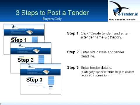 How to Use www e-Tender.ie