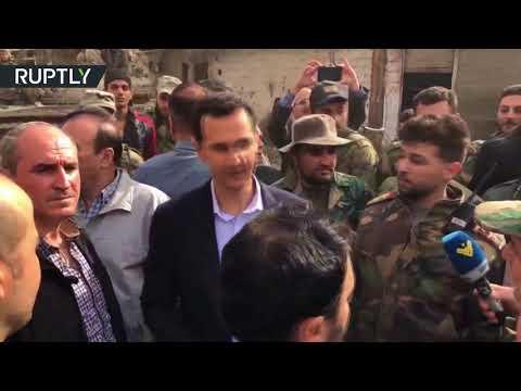 Assad greets troops in eastern Ghouta