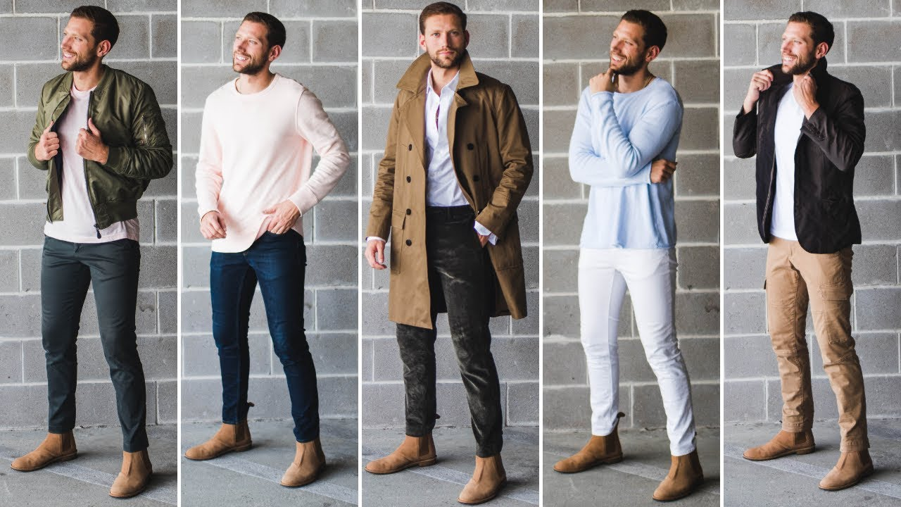 chelsea boots men outfit