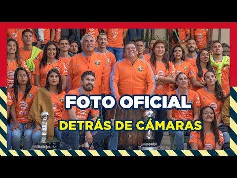 Foto oficial Club América 2019 detrás de cámaras