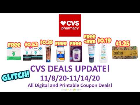 CVS Deals Update 11/8/20-11/14/20! Glitch! All Digital and Printable Coupon Deals!