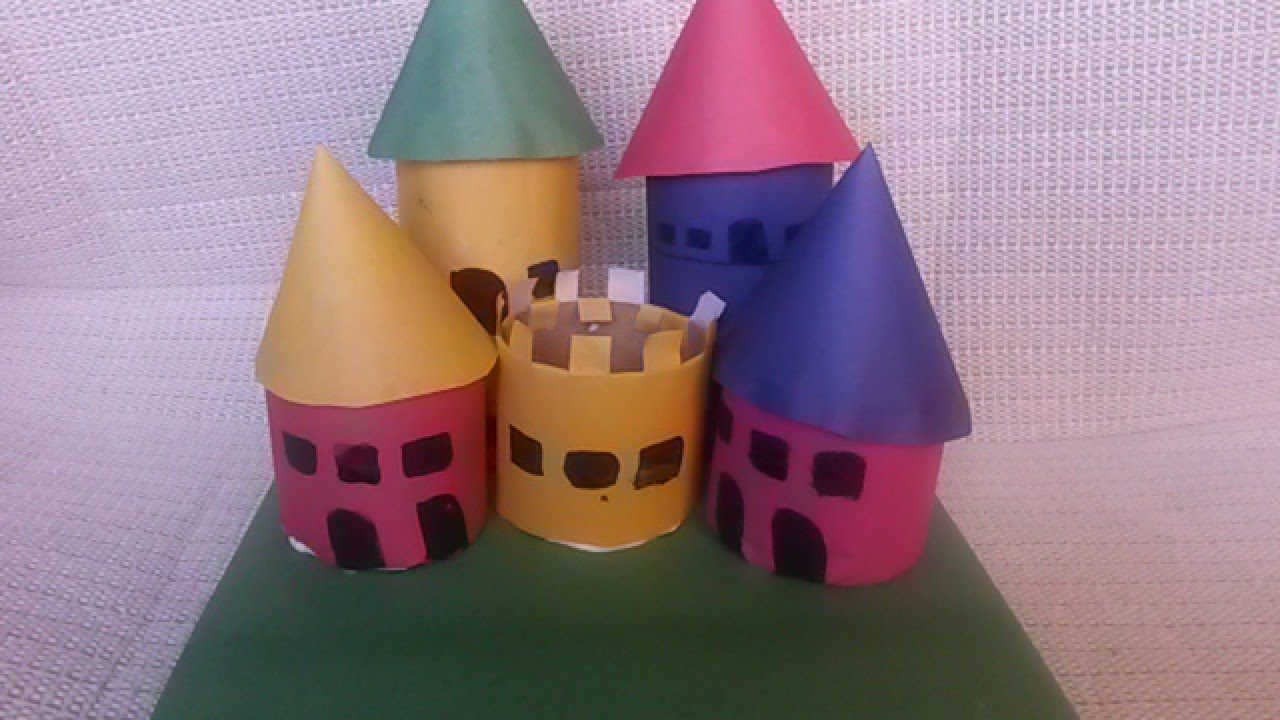 How to make a paper castle decoration - Make A Colorful Paper Roll Play Castle Diy Crafts Guidecentral