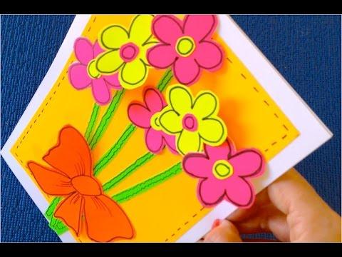 Как сделать открытку с днем рождения для мамы своими руками из бумаги фото 195