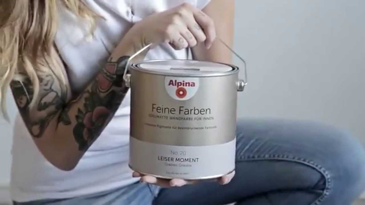 interior styling mit alpina feine farben youtube. Black Bedroom Furniture Sets. Home Design Ideas