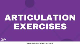 Daily Articulation Vocal Exercises For Singers