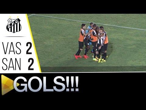 Vasco 2 x 2 Santos | GOLS | Copa do Brasil (21/09/16)