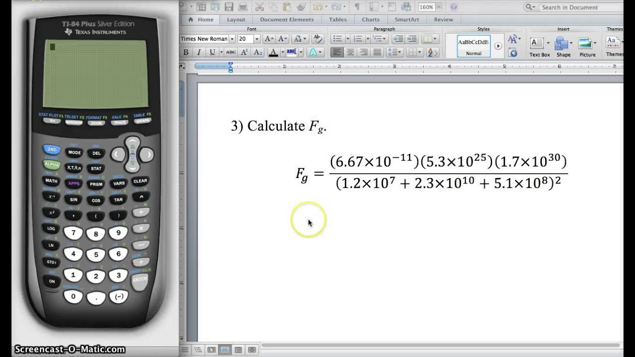 Using TI Calculator for Physics Problems - YouTube