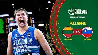 FINAL: Lithuania v Slovenia | Full Game - FIBA Olympic Qualifying Tournament 2020