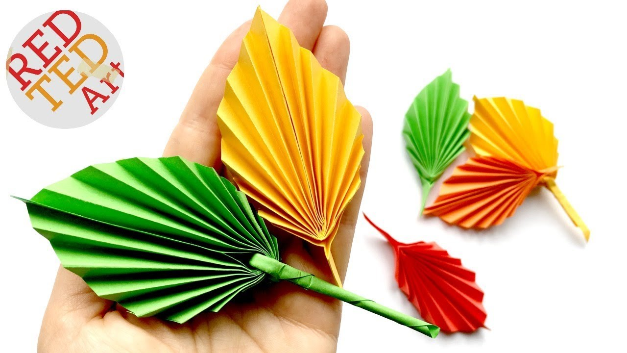 Easy Paper Leaf Red Ted Art Make Crafting With Kids Easy Fun