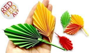 Easy Paper Leaf - great Fall Room Decor DIY - How to make a paper leaf