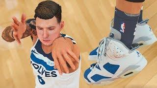 NBA 2k18 My Career - First Game Wearing Jordan's Ep.9