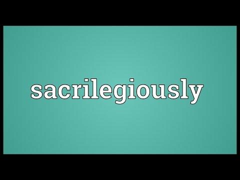Header of sacrilegiously
