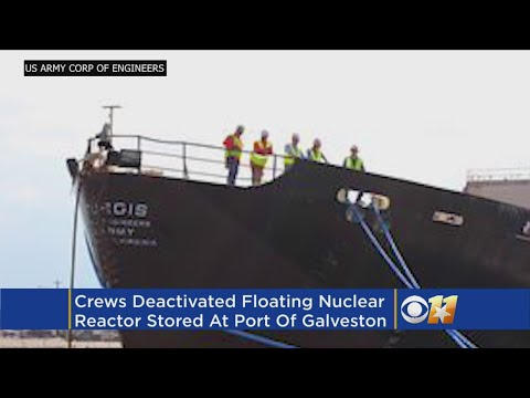 Crews Deactivate Floating Nuclear Plant At Texas Port