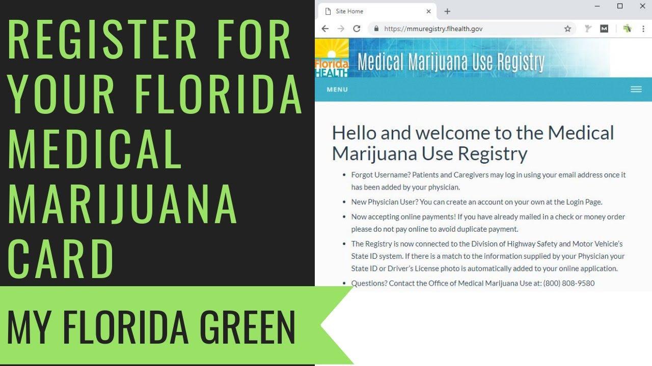 In Marijuana Youtube Florida - Registration Card Medical