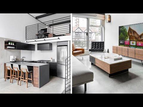 Modern Loft Apartment Makeover - Final Reveal, Furniture, Desk Setups!